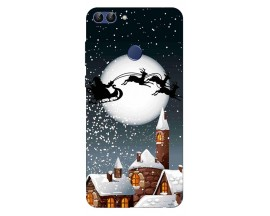 Husa Silicon Soft Upzz Print X-Mass Huawei P Smart 2018 Model Santa1