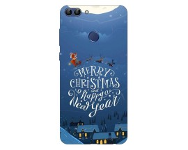 Husa Silicon Soft Upzz Print X-Mass Huawei P Smart 2018 Model Santa2