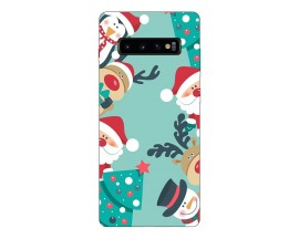 Husa Silicon Soft Upzz Print X-Mass Samsung S10+ Plus Model Cookies