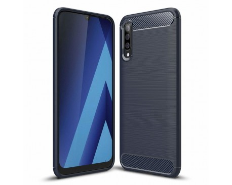 Husa Spate Forcell Carbon Pro Samsung Galaxy A70 Blue Silicon