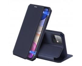 Husa Premium DuxDucis Skin X iPhone 11 Flip Cover, Blue