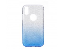 Husa Spate Upzz Shiny Lux Samsung Galaxy A20e Transparent Silver Blue