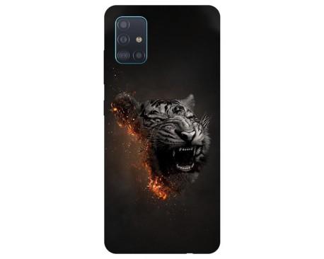 Husa Silicon Soft Upzz Print Samsung Galaxy A71 Model Tiger