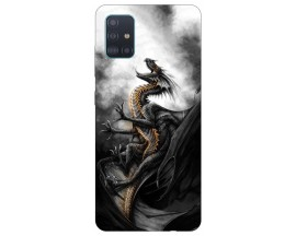 Husa Silicon Soft Upzz Print Samsung Galaxy A51 Model Dragon 1