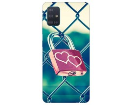 Husa Silicon Soft Upzz Print Samsung Galaxy A51 Model Heart Lock