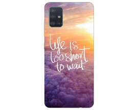 Husa Silicon Soft Upzz Print Samsung Galaxy A51 Model Life
