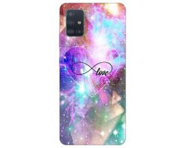 Husa Silicon Soft Upzz Print Samsung Galaxy A71 Model Neon Love