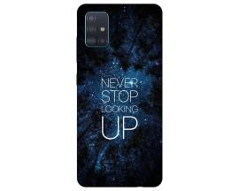 Husa Silicon Soft Upzz Print Samsung Galaxy A71 Model Never Stop