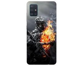 Husa Silicon Soft Upzz Print Samsung Galaxy A71 Model Soldier