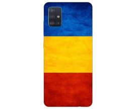 Husa Silicon Soft Upzz Print Samsung Galaxy A71 Model Tricolor