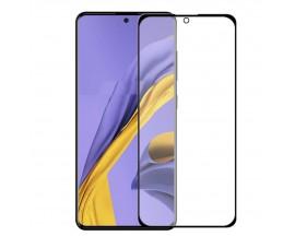 Folie Sticla Full Cover Full Glue 6d Upzz Samsung Galaxy A51 Cu Adeziv Pe Toata Suprafata Foliei Neagra