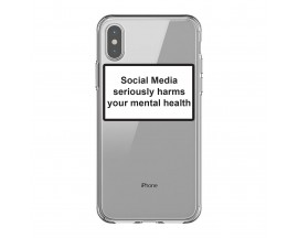 Husa Spate Silicon Upzz Label iPhone X/XS Model Social