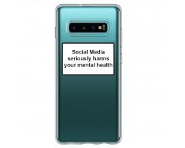 Husa Spate Silicon Upzz Label Samsung Galaxy S10+ Plus Model Social