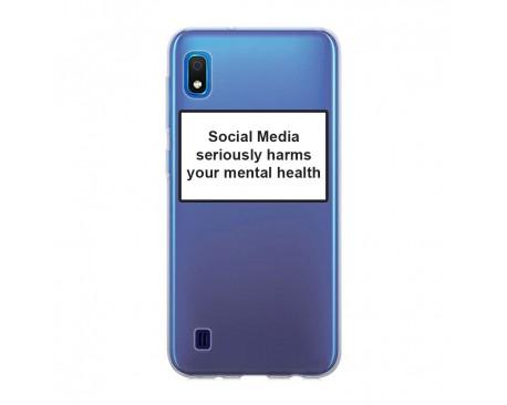 Husa Spate Silicon Upzz Label Samsung Galaxy A10 Model Social