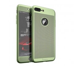 Husa iPaky Air Plus 360 grade Ultra Slim iPhone 7 Plus Verde Folie Sticla Inclusa