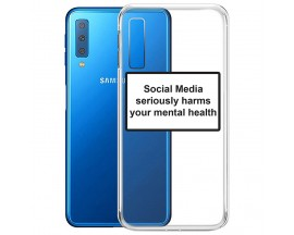 Husa Spate Silicon Upzz Label Samsung Galaxy A7 Model Social