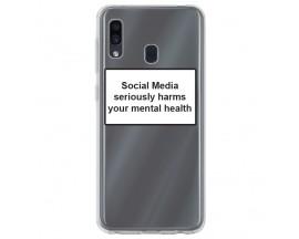 Husa Spate Silicon Upzz Label Samsung Galaxy A40 Model Social