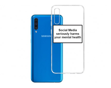 Husa Spate Silicon Upzz Label Samsung Galaxy A50 Model Social