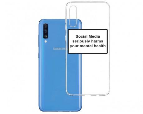 Husa Spate Silicon Upzz Label Samsung Galaxy A70 Model Social