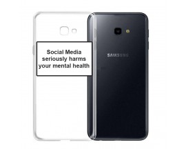 Husa Spate Silicon Upzz Label Samsung Galaxy J4+ Plus Model Social