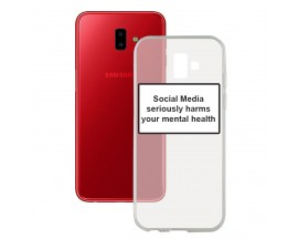 Husa Spate Silicon Upzz Label Samsung Galaxy J6+ Plus Model Social