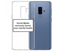 Husa Spate Silicon Upzz Label Samsung Galaxy S9 Plus Model Social