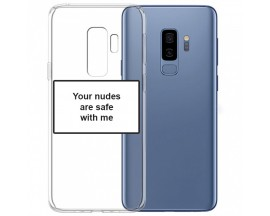 Husa Spate Silicon Upzz Label Samsung Galaxy S9 Plus Model Nudes