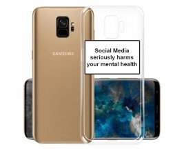Husa Spate Silicon Upzz Label Samsung Galaxy S9 Model Social
