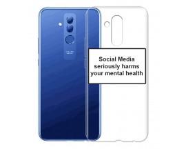 Husa Spate Silicon Upzz Label Huawei Mate 20 Lite Model Social