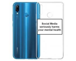Husa Spate Silicon Upzz Label Huawei P20 Lite Model Social