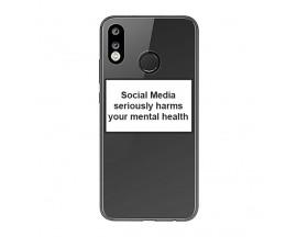 Husa Spate Silicon Upzz Label Huawei P30 Lite Model Social