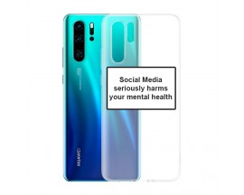 Husa Spate Silicon Upzz Label Huawei P30 Pro Model Social