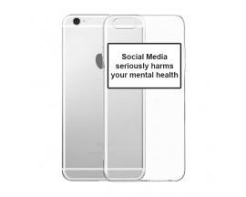 Husa Spate Silicon Upzz Label iPhone 6 / 6S Model Social