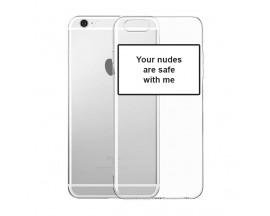 Husa Spate Silicon Upzz Label iPhone 6 / 6S Model Nudes