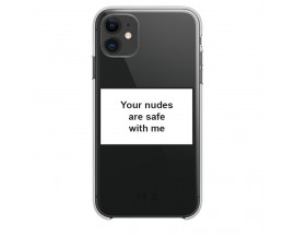 Husa Spate Silicon Upzz Label iPhone 11 Model Nudes