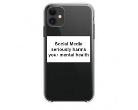 Husa Spate Silicon Upzz Label iPhone 11 Model Social