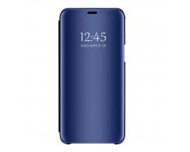 Husa Tip Carte Mirror Huawei Mate 30 Lite Cu Folie Sticla Upzz Glass Inclusa In Pachet, Albastru