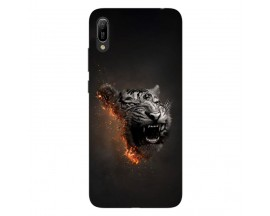 Husa Silicon Soft Upzz Print Huawei Y6 2019 Model Tiger