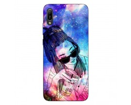 Husa Silicon Soft Upzz Print Huawei Y6 2019 Model Universe Girl