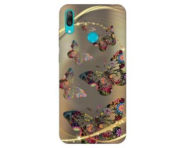 Husa Silicon Soft Upzz Print Huawei Y7 2019 Model Goldenbutterfly