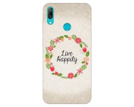 Husa Silicon Soft Upzz Print Huawei Y7 2019 Model Happily