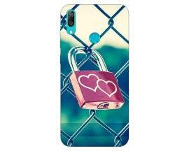 Husa Silicon Soft Upzz Print Huawei Y7 2019 Model Heart Lock