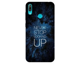 Husa Silicon Soft Upzz Print Huawei Y7 2019 Model Never Stop