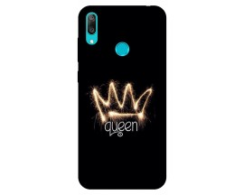 Husa Silicon Soft Upzz Print Huawei Y7 2019 Model Queen