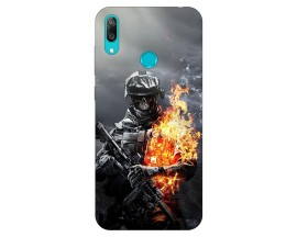 Husa Silicon Soft Upzz Print Huawei Y7 2019 Model Soldier