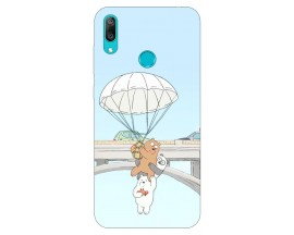 Husa Silicon Soft Upzz Print Huawei Y7 2019 Model Three Bears