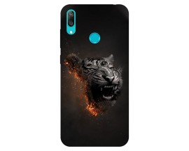 Husa Silicon Soft Upzz Print Huawei Y7 2019 Model Tiger