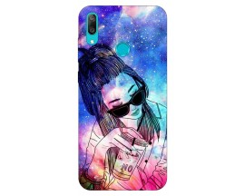 Husa Silicon Soft Upzz Print Huawei Y7 2019 Model Universe Girl
