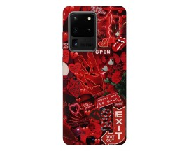 Husa Silicon Soft Upzz Print Samsung Galaxy S20 Ultra Model Exit