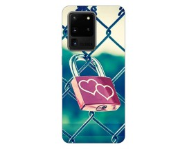 Husa Silicon Soft Upzz Print Samsung Galaxy S20 Ultra Model Heart Lock